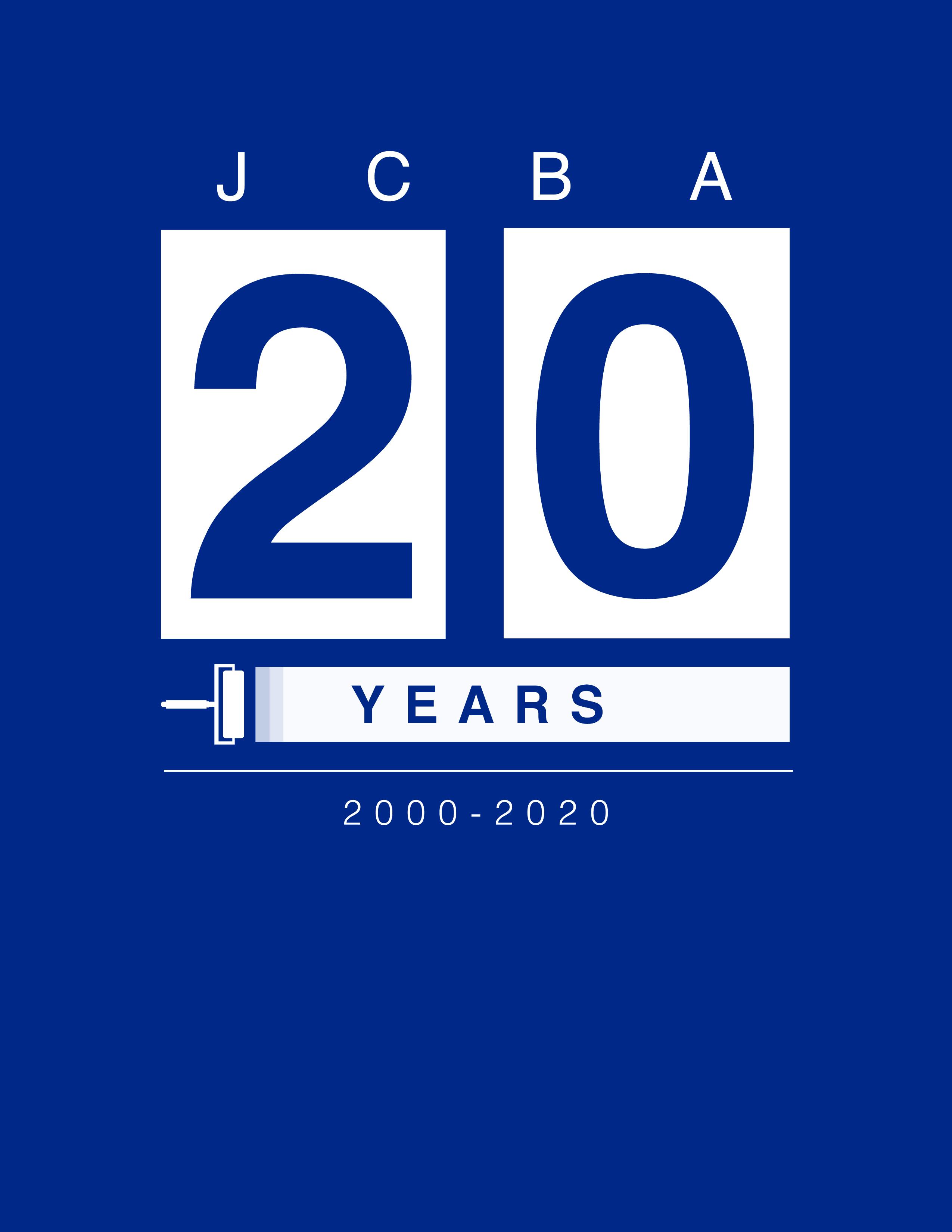 JCBA Twenty Year Anniversary Banner
